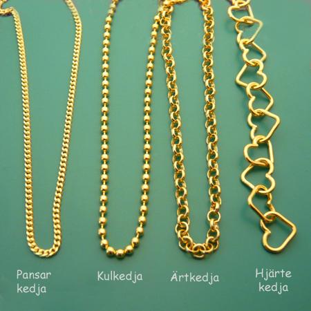 Guldplätterade silverkedjor. ( 18k Guld på 925 sterlingsilver )