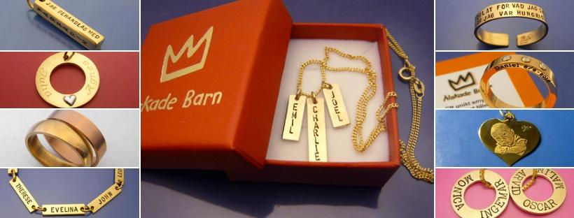 Personliga smycken i Guld.