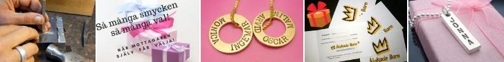 Presenttips - Presentkort Personliga smycken